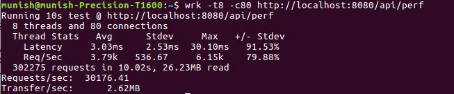 wrk output