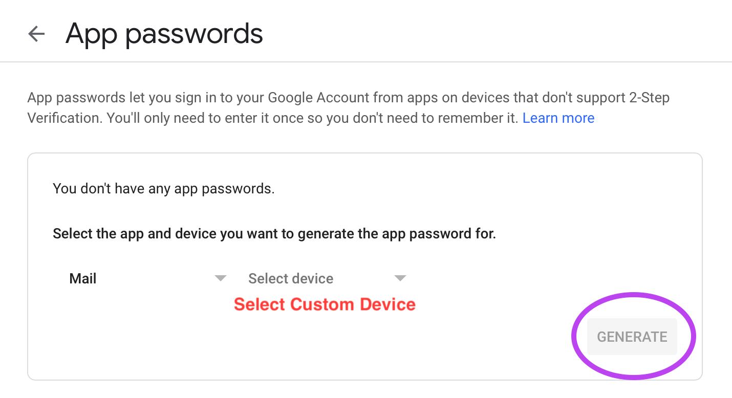 google generate password