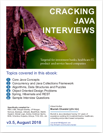 Citibank Java developer interview questions