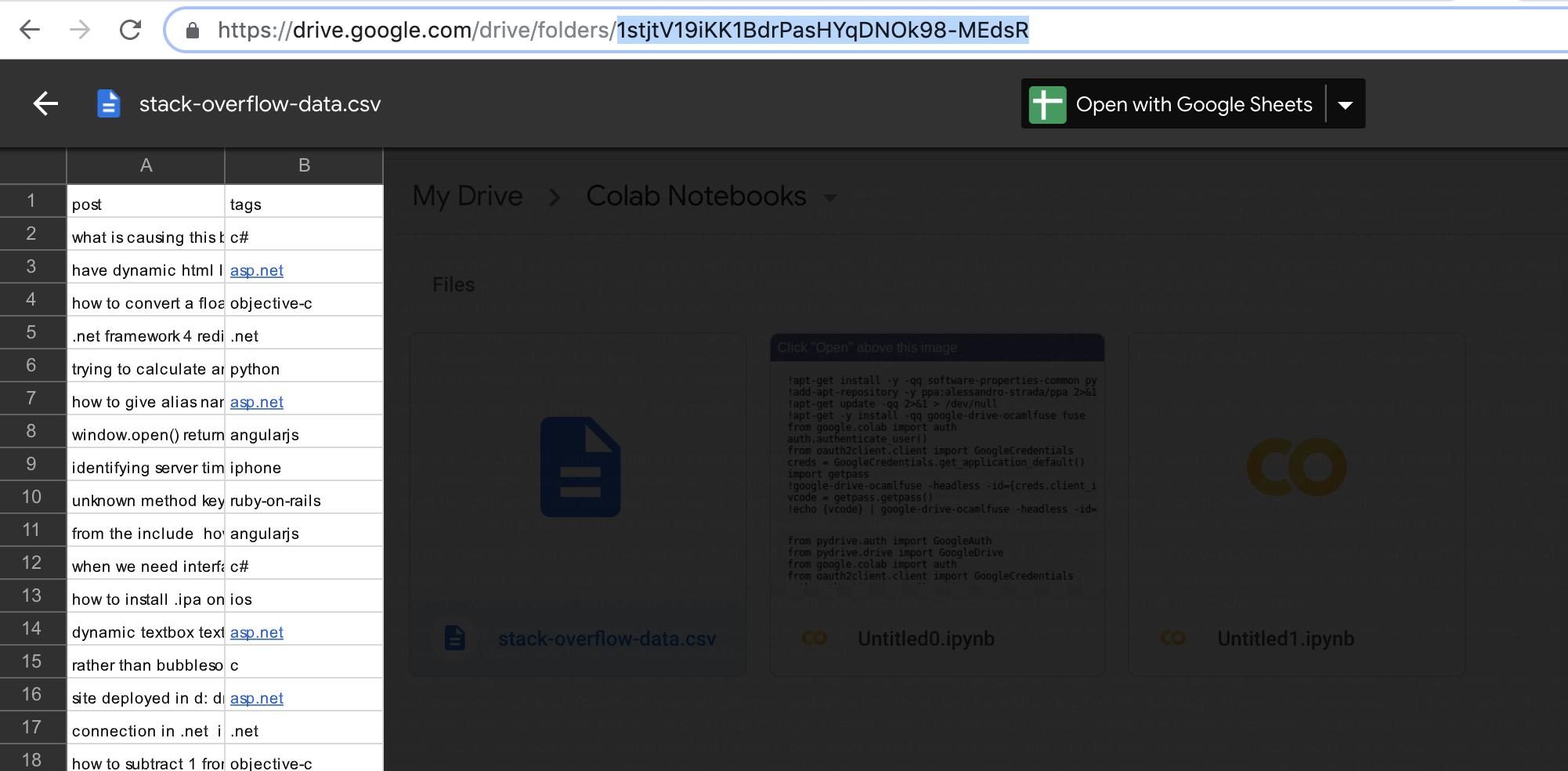 get id of folder