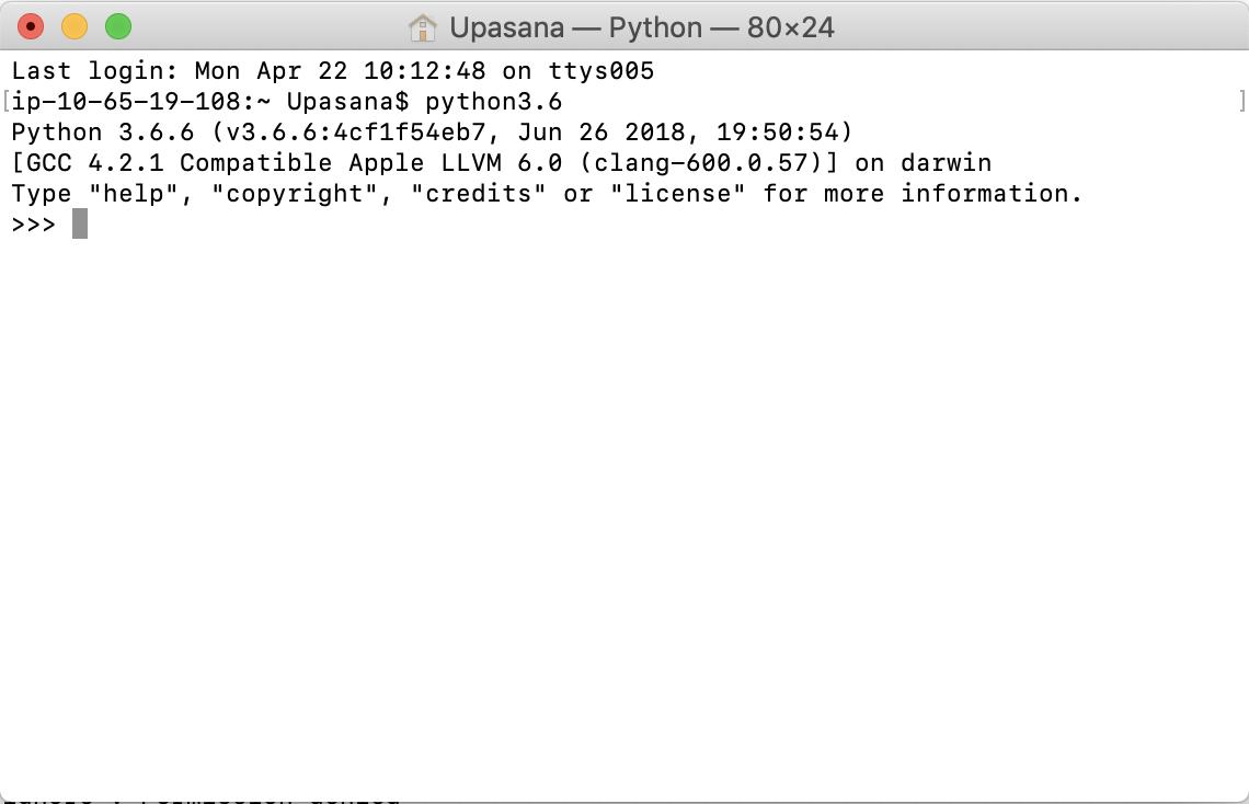 python on terminal